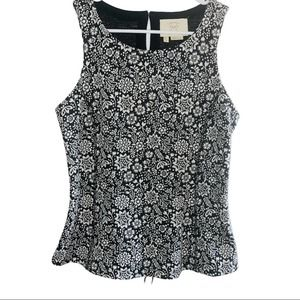 Anthropologie Floral Laced Tank Top